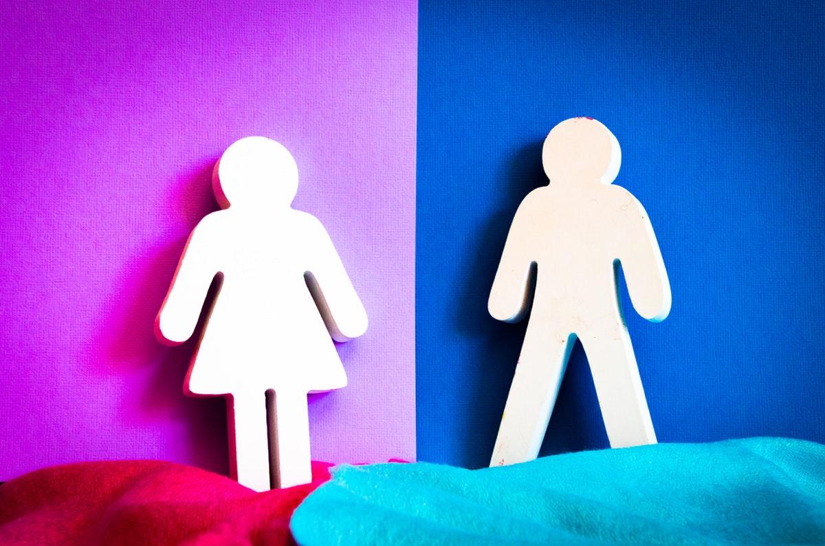 violetti ja sininen tausta gender